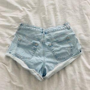 Topshop denim jean short shorts